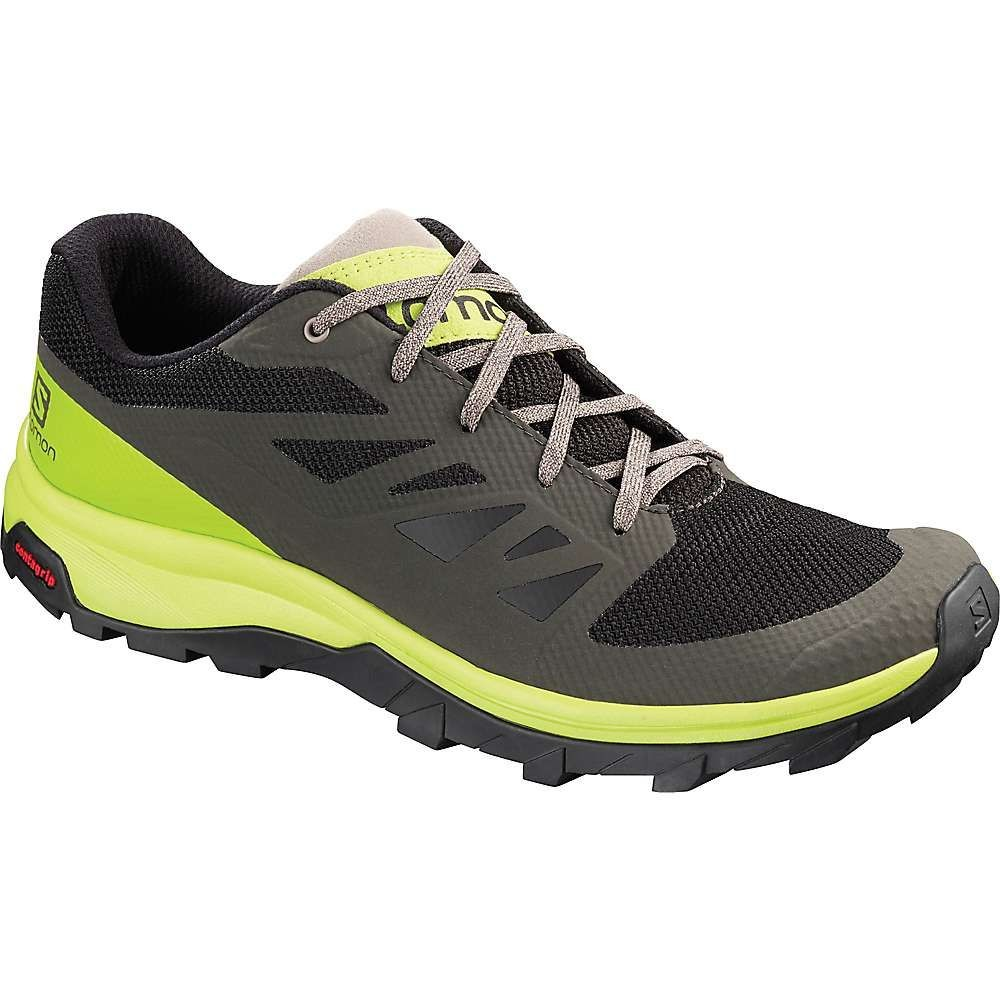 サロモン Salomon メンズ ハイキング・登山 シューズ・靴【outline shoe】Beluga/Lime Green/Vintage Kaki