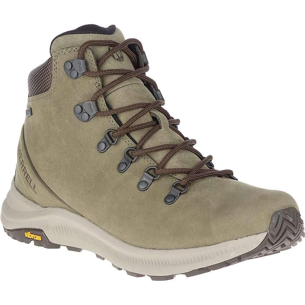 メレル Merrell メンズ ハイキング・登山 シューズ・靴【ontario mid waterproof shoe】Olive