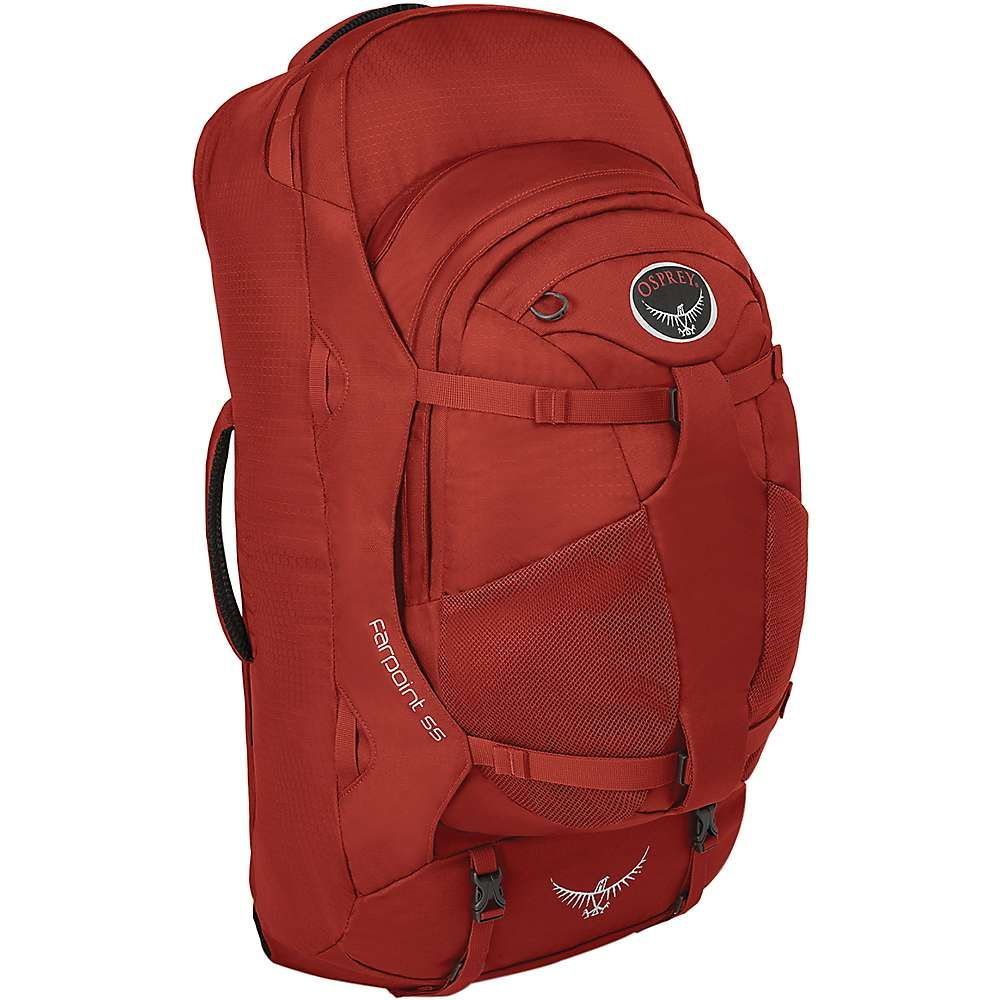 オスプレー Osprey メンズ ハイキング・登山 バックパック・リュック【farpoint 55 travel pack】Jasper Red