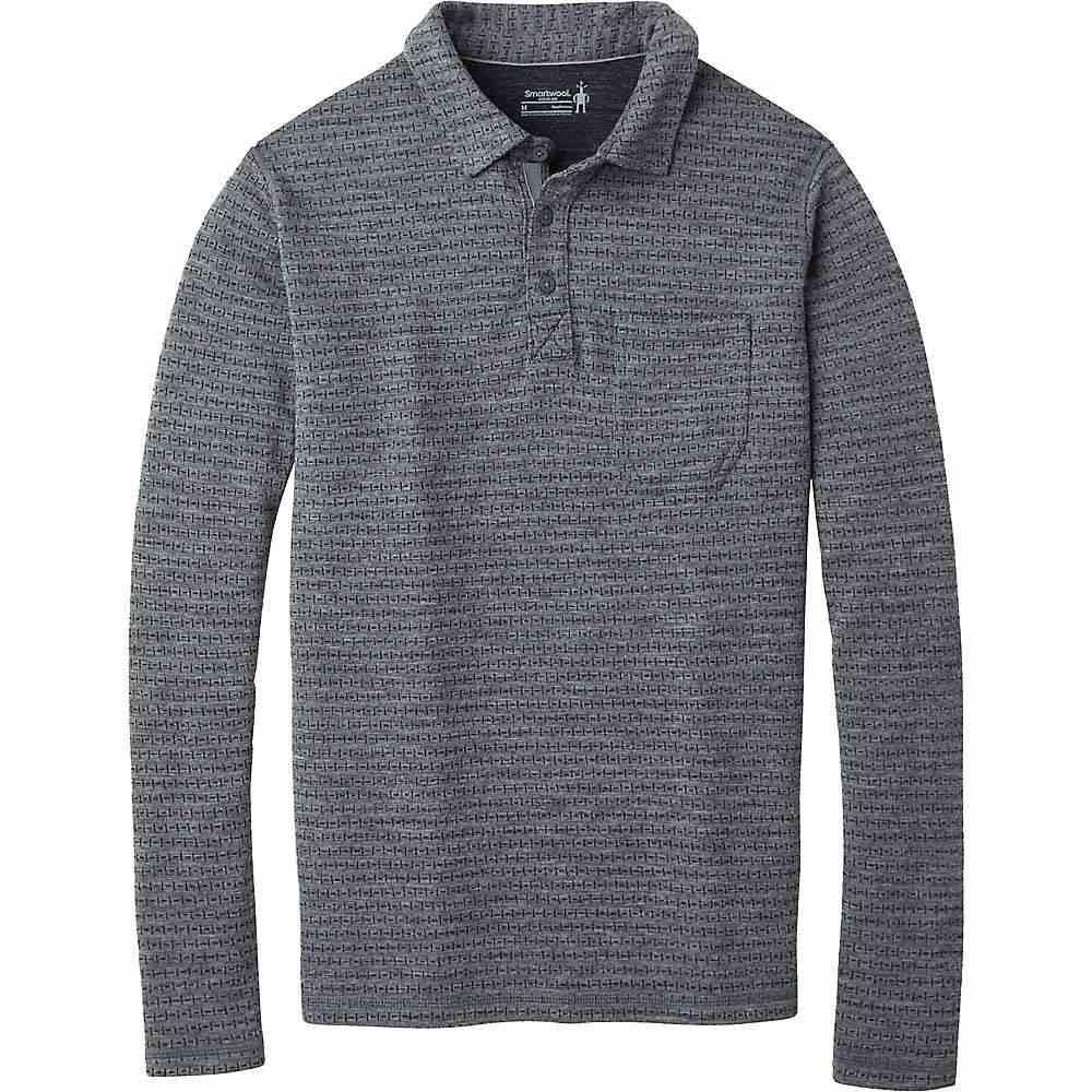 スマートウール Smartwool メンズ ハイキング・登山 ポロシャツ トップス【merino 250 ls polo】Medium Gray Tick Stitch