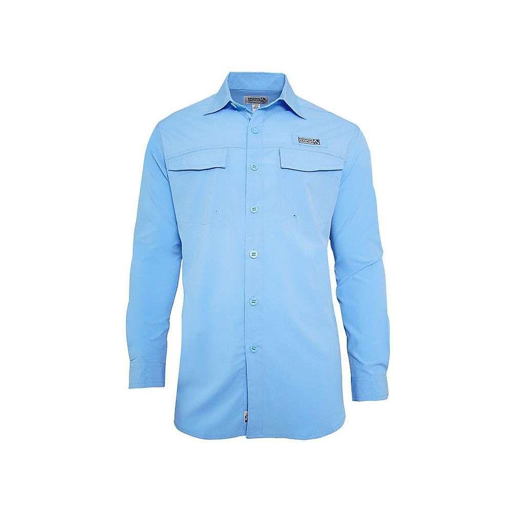 フックアンドタックル Hook & Tackle メンズ 釣り・フィッシング トップス【coastline ls shirt】French Blue