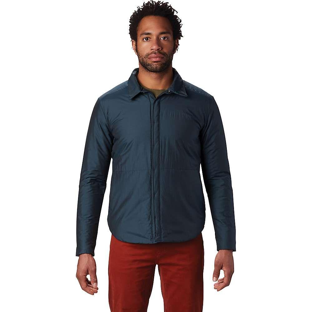 マウンテンハードウェア メンズ ハイキング 登山 トップス Blue Spruce overshirt Mountain 限定特価 サイズ交換無料 オーバーシャツ Hardwear skylab 保証