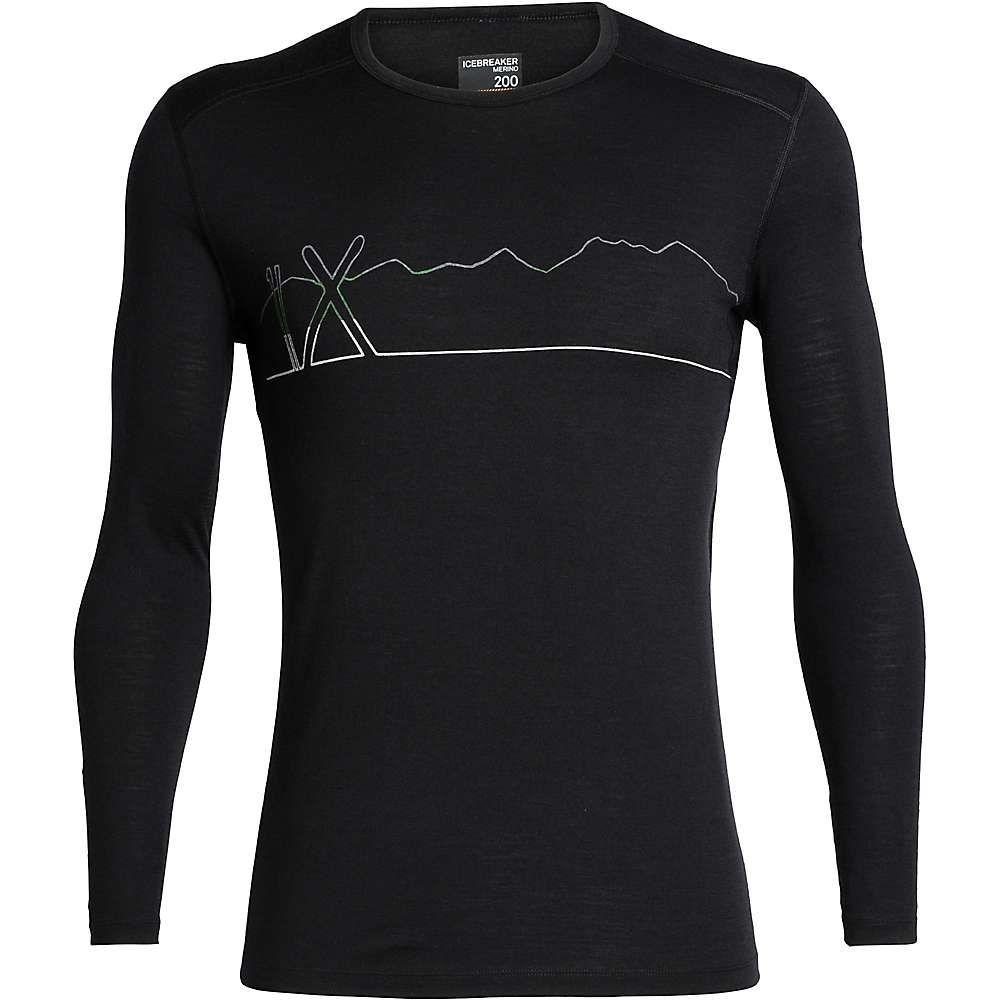 アイスブレーカー Icebreaker メンズ ハイキング・登山 トップス【200 oasis ls crewe single line ski top】Black