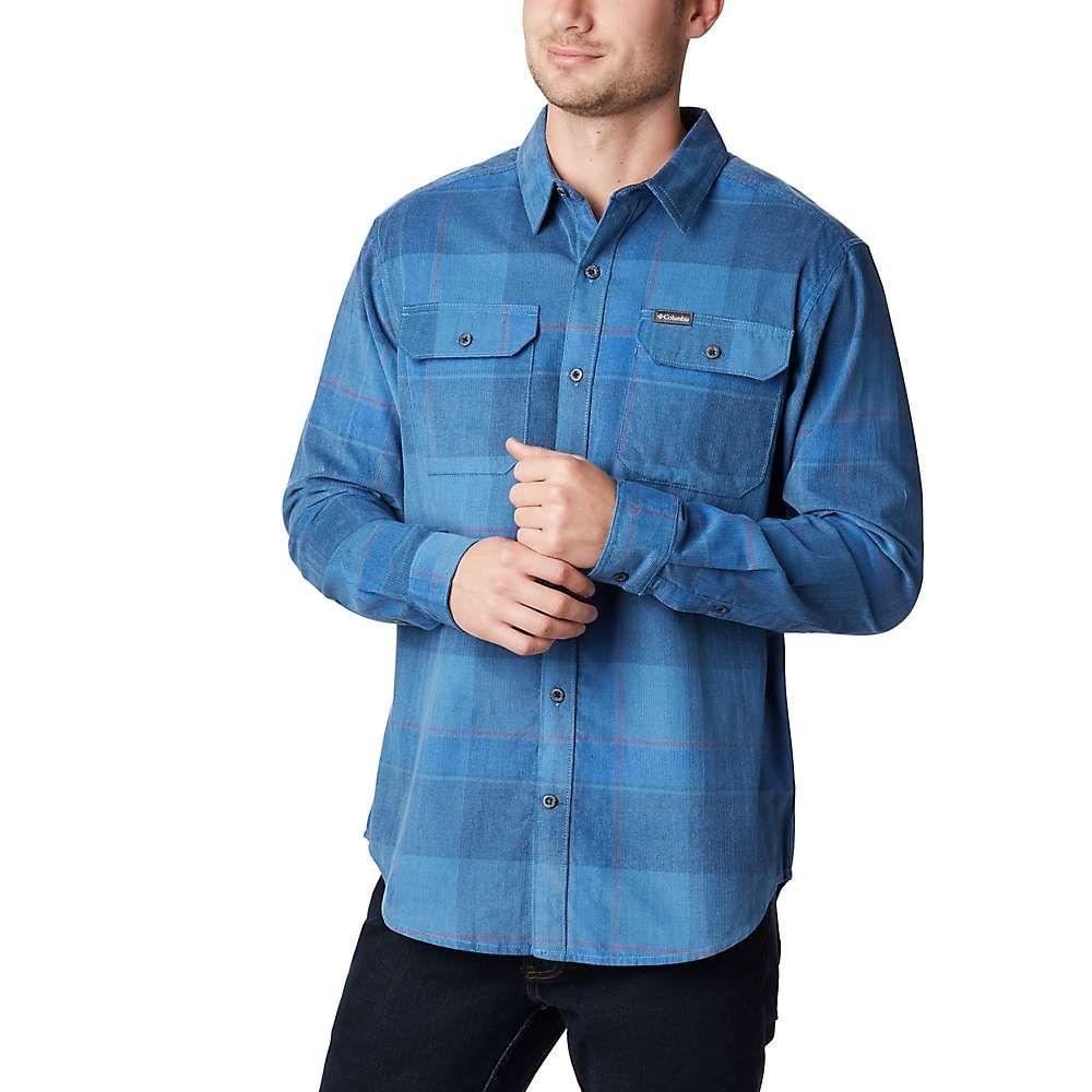 コロンビア メンズ ハイキング 驚きの値段で 登山 トップス Scout Blue Large サイズ交換無料 flare shirt gun Columbia corduroy 訳あり品送料無料 Check