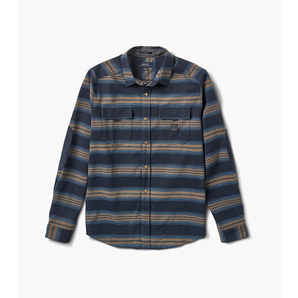 ローアク Roark メンズ ハイキング・登山 トップス【diablo soft touch poly stretch flannel】Blue