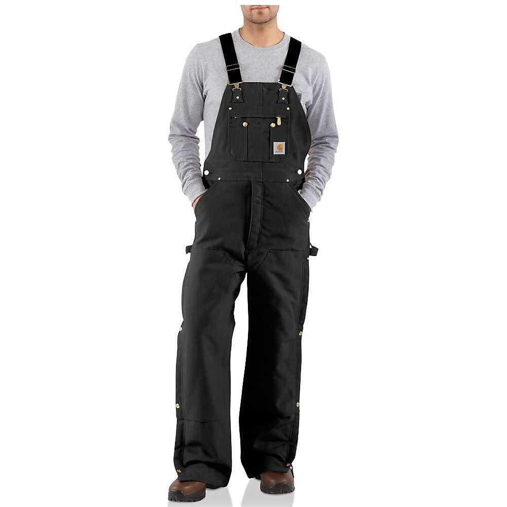 カーハート Carhartt メンズ オーバーオール ビブパンツ ボトムス・パンツ【quilt lined zip to thigh bib overall】Black