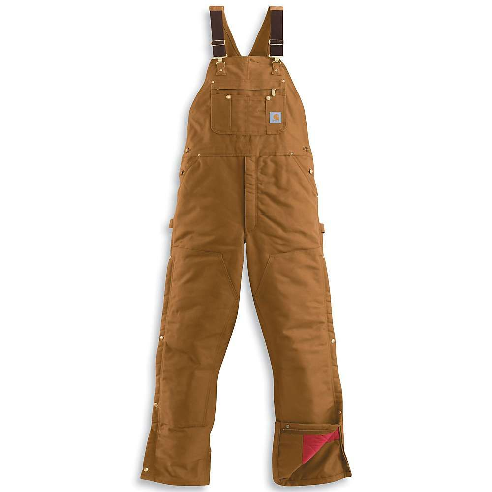 カーハート Carhartt メンズ オーバーオール ビブパンツ ボトムス・パンツ【quilt lined zip to thigh bib overall】Carhartt Brown
