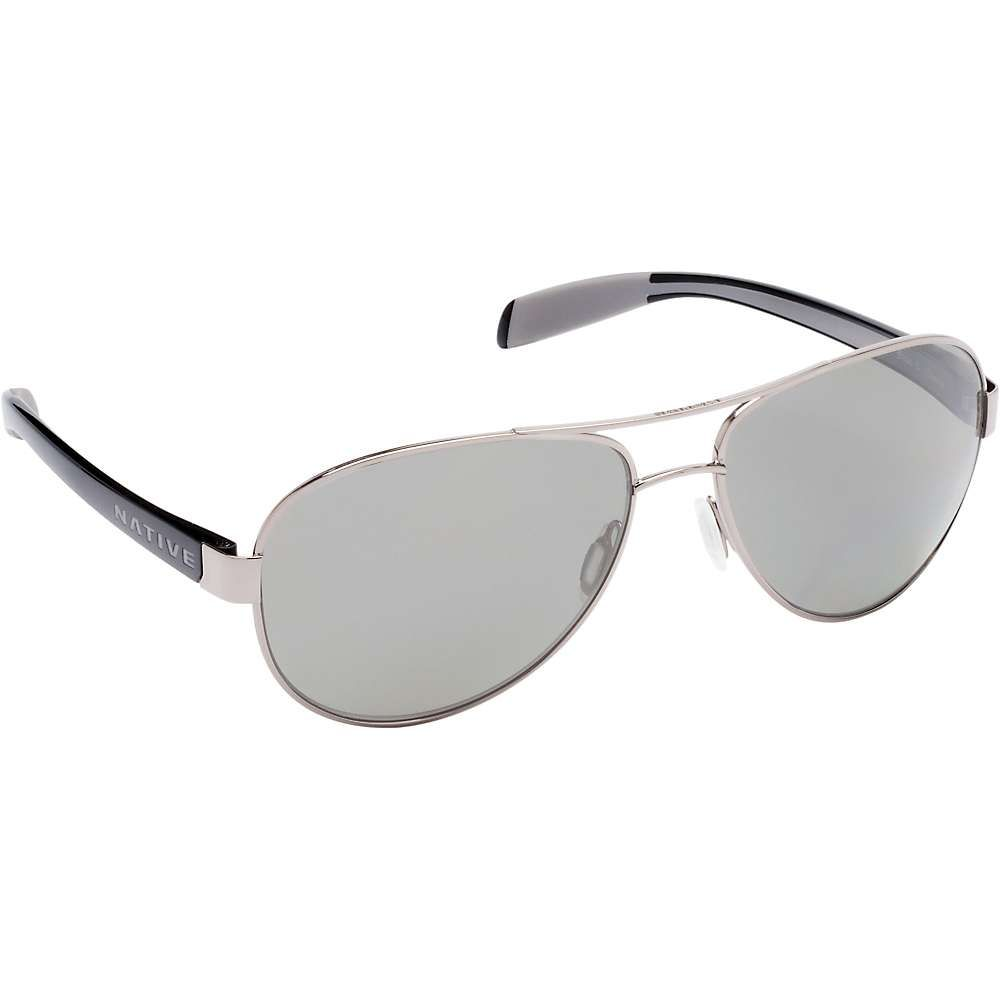 ネイティブ Native メンズ メガネ・サングラス 【patroller polarized sunglasses】Chrome/Gloss Black/Grey