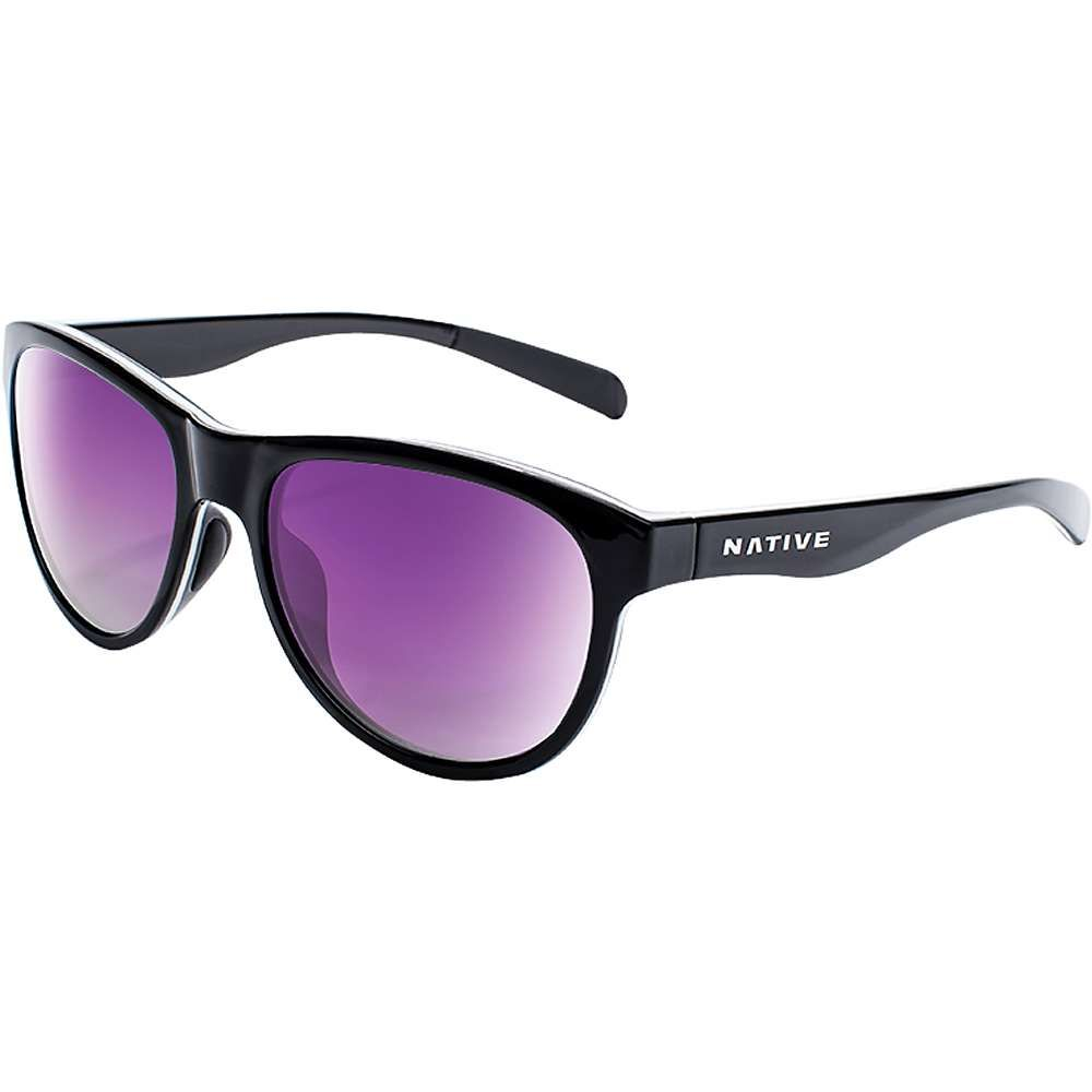 ネイティブ Native メンズ メガネ・サングラス 【acadia polarized sunglasses】Gloss Black/White/Gloss Black/Violet Reflex