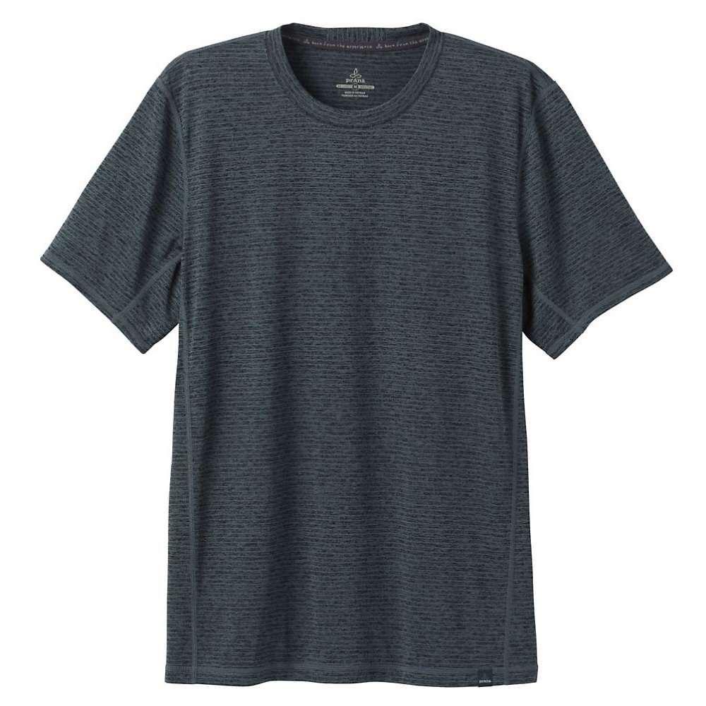 プラーナ Prana メンズ ヨガ・ピラティス トップス【hardesty ss shirt】Grey Blue Stripe