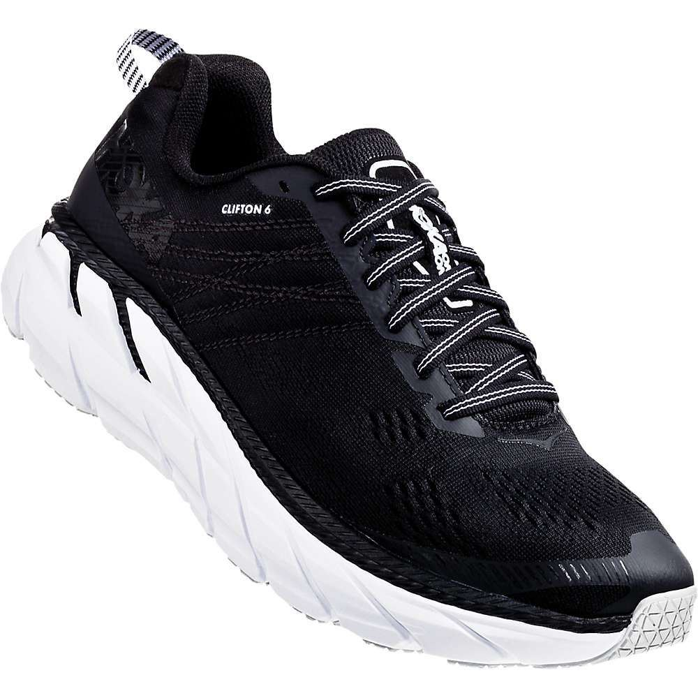 ホカ オネオネ Hoka One One メンズ ランニング・ウォーキング シューズ・靴【clifton 6 shoe】Black/White