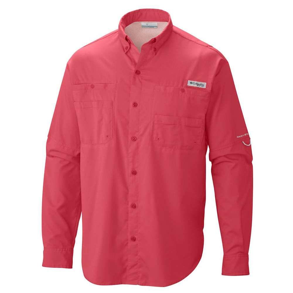 コロンビア Columbia メンズ 釣り・フィッシング トップス【tamiami ii ls shirt】Sunset Red