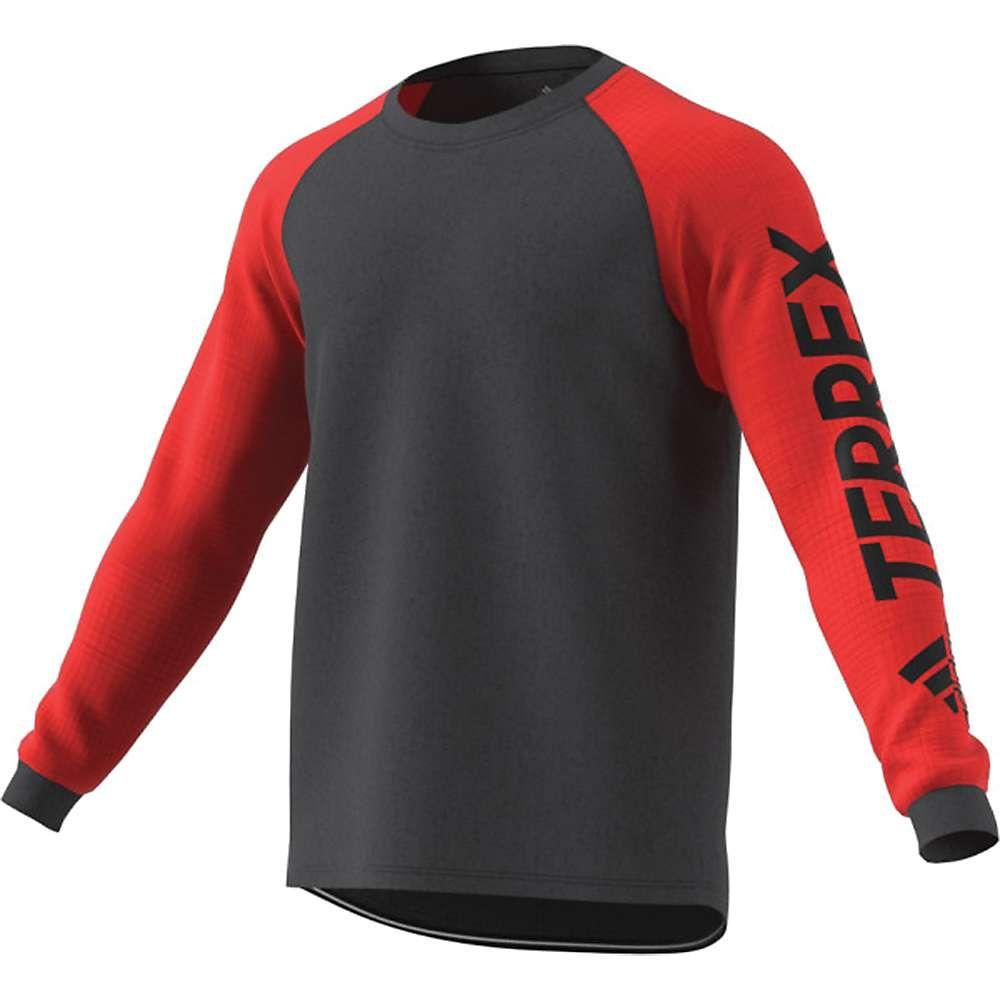 アディダス Adidas メンズ ランニング・ウォーキング トップス【terrex trailcross ls top】Hi-Res Red/Carbon
