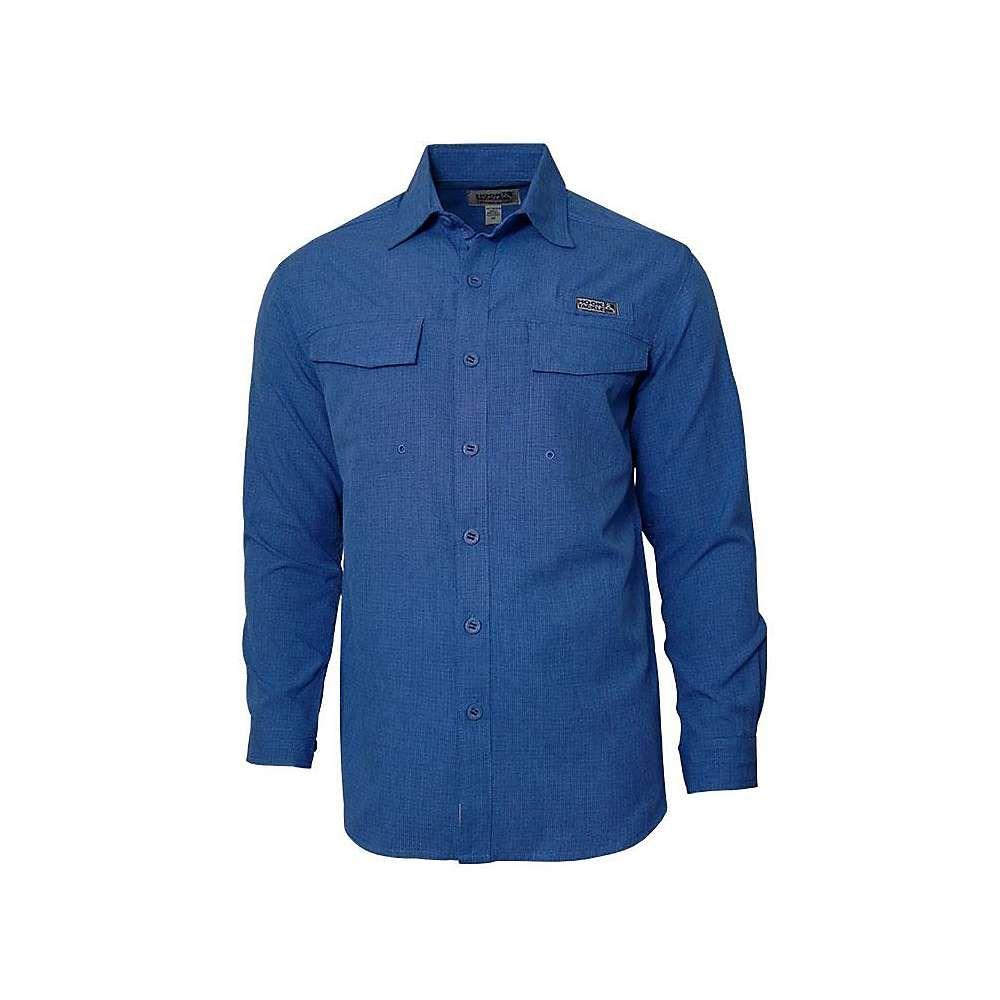 フックアンドタックル Hook & Tackle メンズ 釣り・フィッシング トップス【iztapa ls shirt】Blue