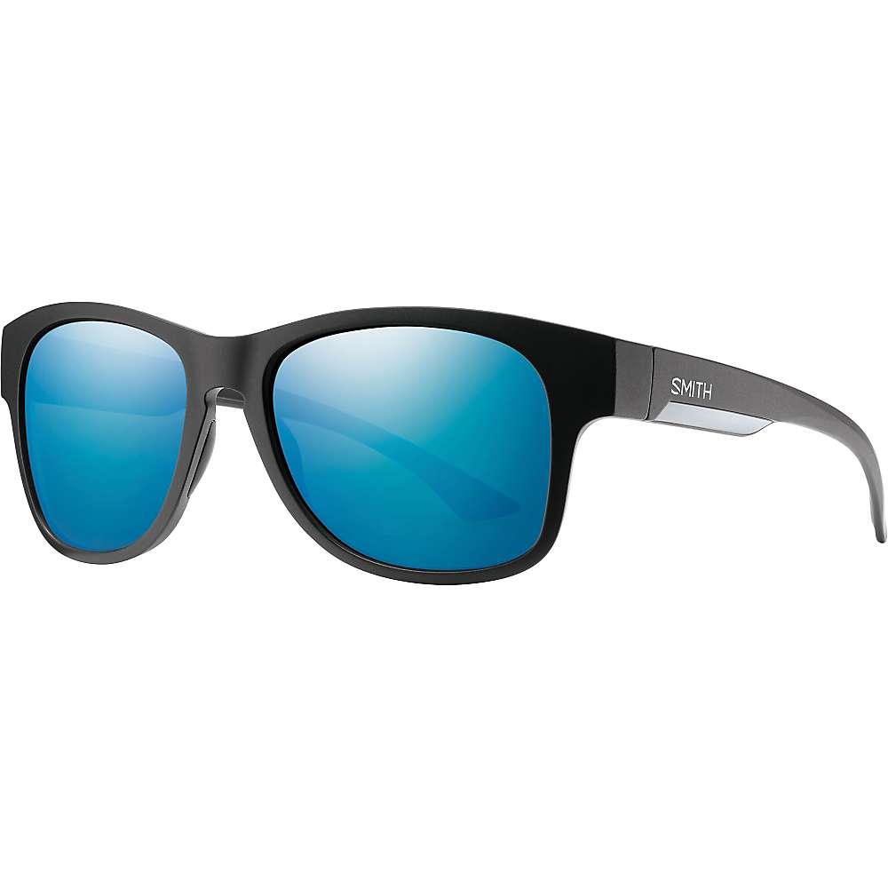 スミス メンズ アクセサリー メガネ・サングラス【Smith Wayward ChromaPop+ Polarized Sunglasses】Matte Black / Polarized Blue Mirror