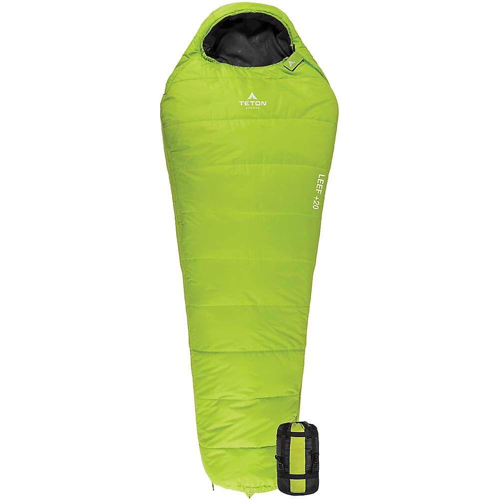 ティトンスポーツ TETON Sports ユニセックス ハイキング・登山 バッグ【leef +20 ultralight mummy bag】Green