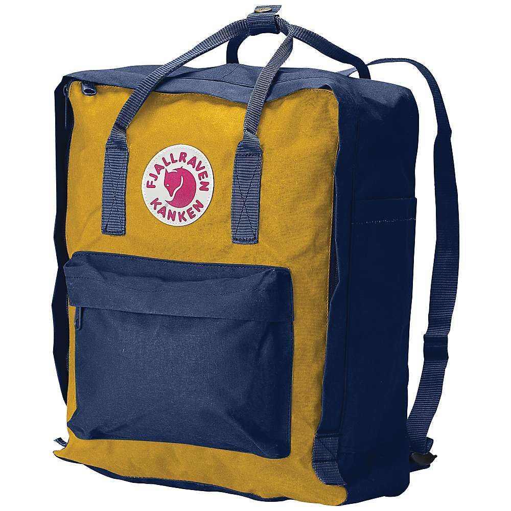 フェールラーベン Fjallraven ユニセックス ハイキング・登山 カンケン バックパック・リュック【kanken backpack】NAVY/YELLOW