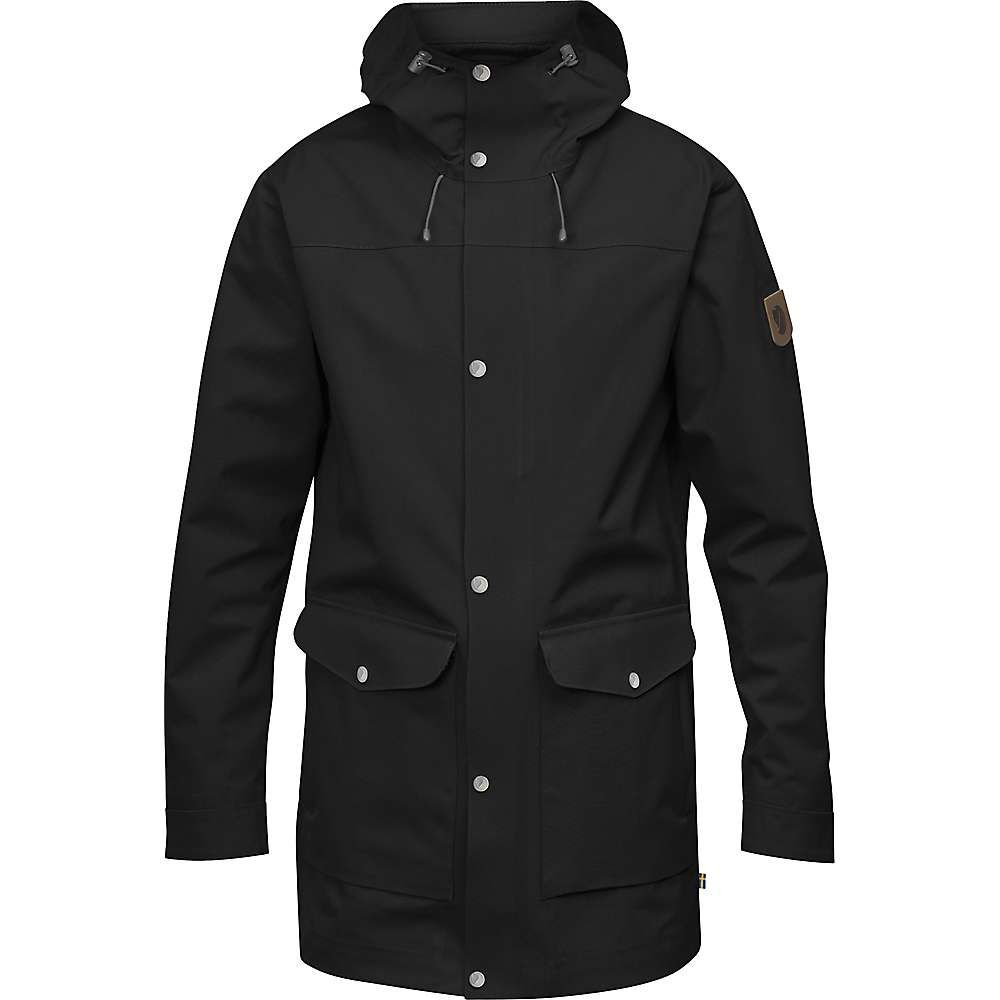 フェールラーベン Fjallraven メンズ レインコート シェルジャケット アウター【greenland eco shell jacket】Black