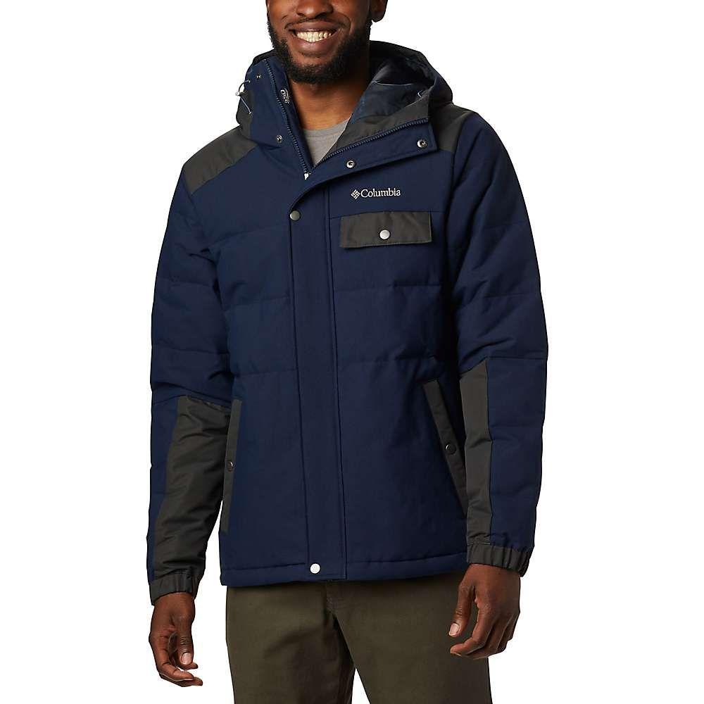 コロンビア Columbia メンズ ダウン・中綿ジャケット フード アウター【winter challenger hooded jacket】Collegiate Navy/Shark