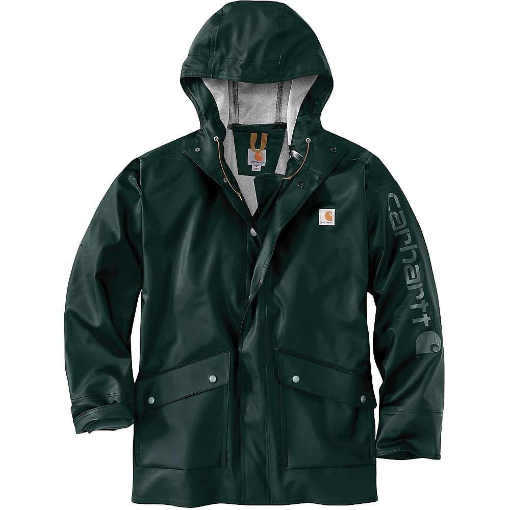 カーハート Carhartt メンズ レインコート アウター【midweight waterproof rain storm coat】Canopy Green