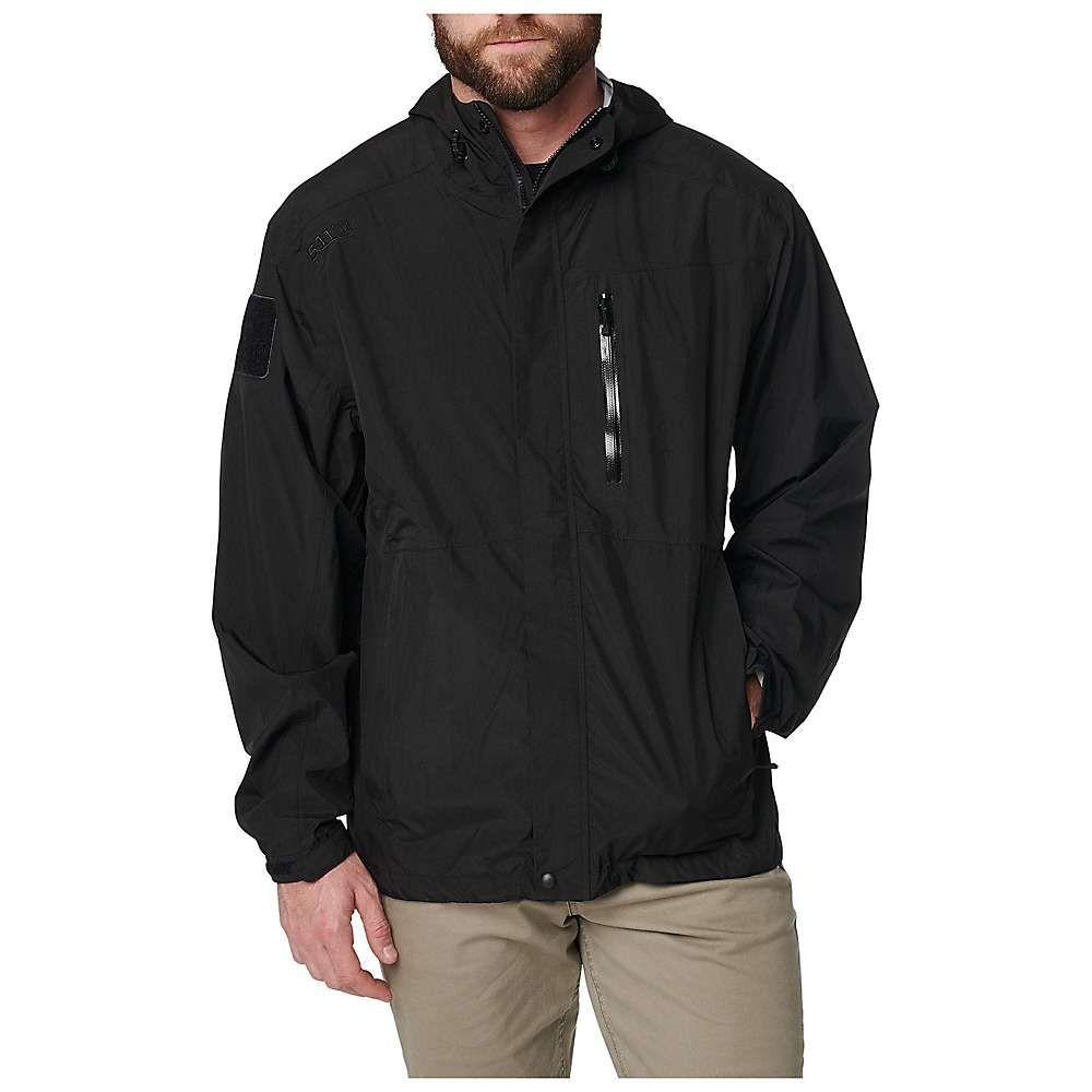 5.11 タクティカル 5.11 Tactical メンズ レインコート シェルジャケット アウター【aurora shell jacket】Black