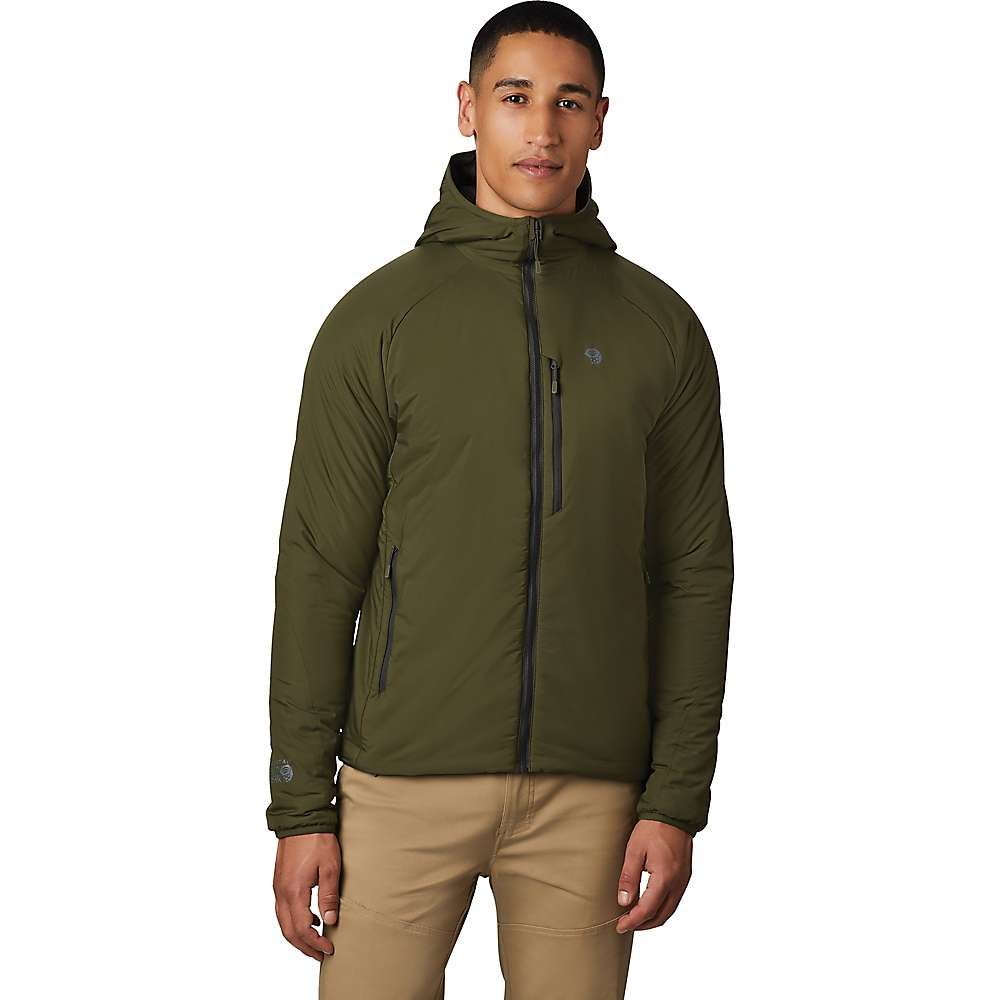 マウンテンハードウェア Mountain Hardwear メンズ ダウン・中綿ジャケット フード アウター【kor strata hooded jacket】Dark Army