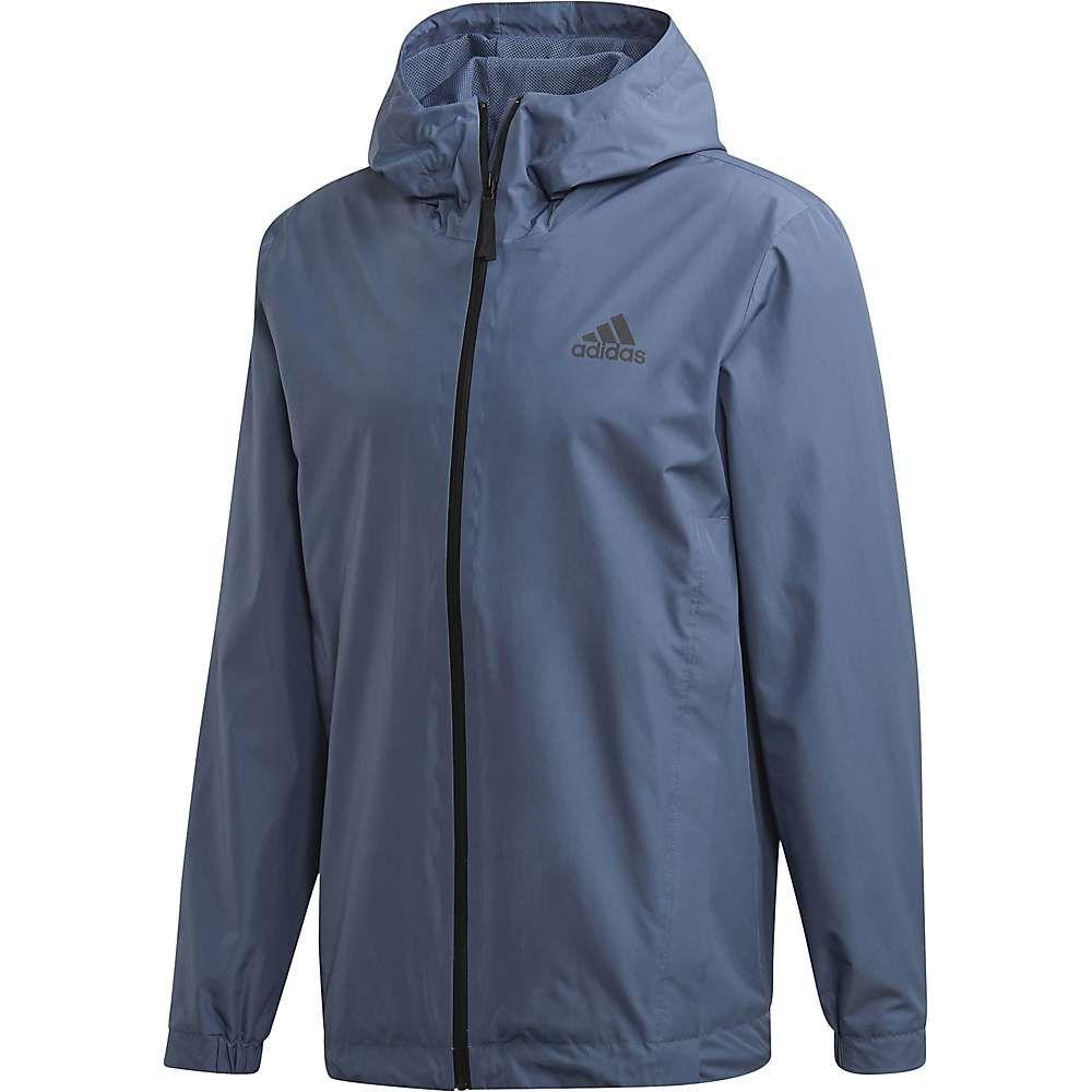 アディダス Adidas メンズ レインコート アウター【bsc climaproof rain jacket】Tech Ink