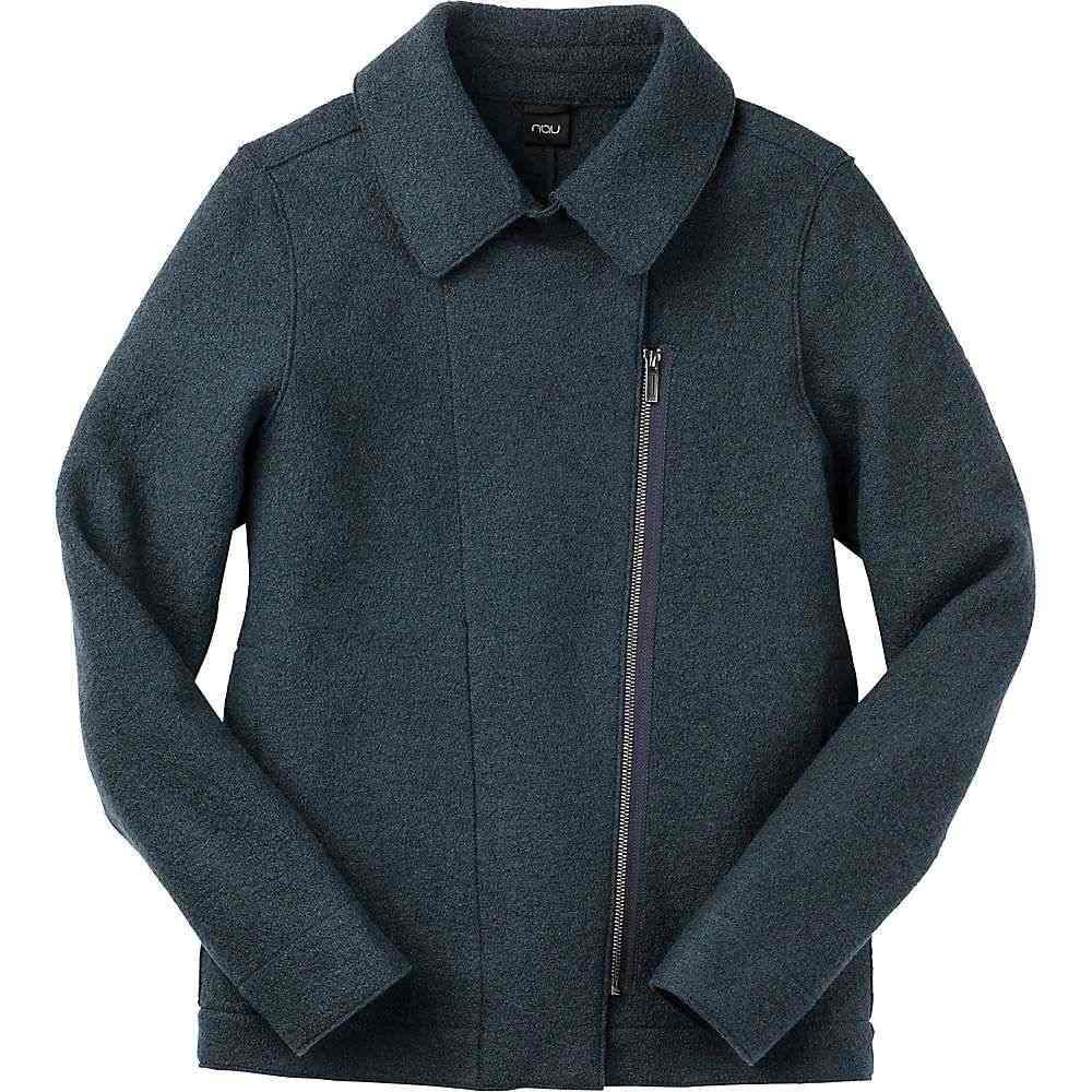 ナウ Nau レディース ジャケット モーターサイクルジャケット アウター【boiled wool moto jacket】Navy