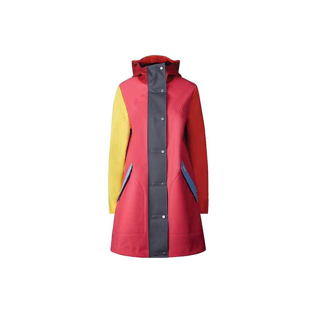 ハンター Hunter レディース コート アウター【original color blocked rubberised hunting coat】Bright Pink Colorblock