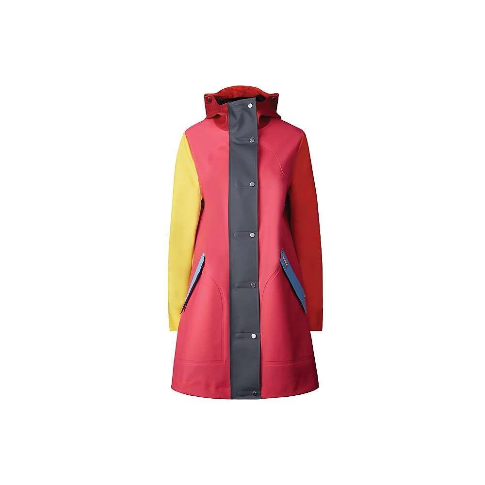 ハンター Hunter レディース コート アウター【original color blocked rubberised hunting coat】Bright Pink Colorblock