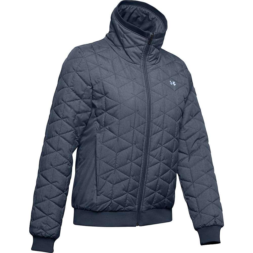 アンダーアーマー Under Armour レディース ジャケット アウター【coldgear reactor performance jacket】Downpour Grey/Blue Heights