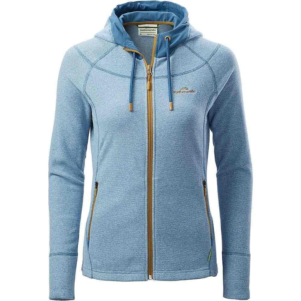 カトマンズ Kathmandu レディース ジャケット フード アウター【arenha hooded jacket】Deep Sea Blue/Pumice