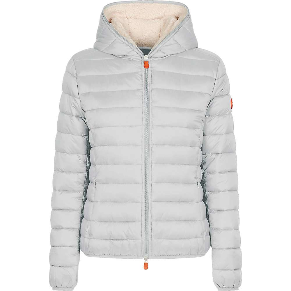セイブ ザ ダック Save The Duck レディース ジャケット フード アウター【hooded sherpa jacket】Frozen Grey