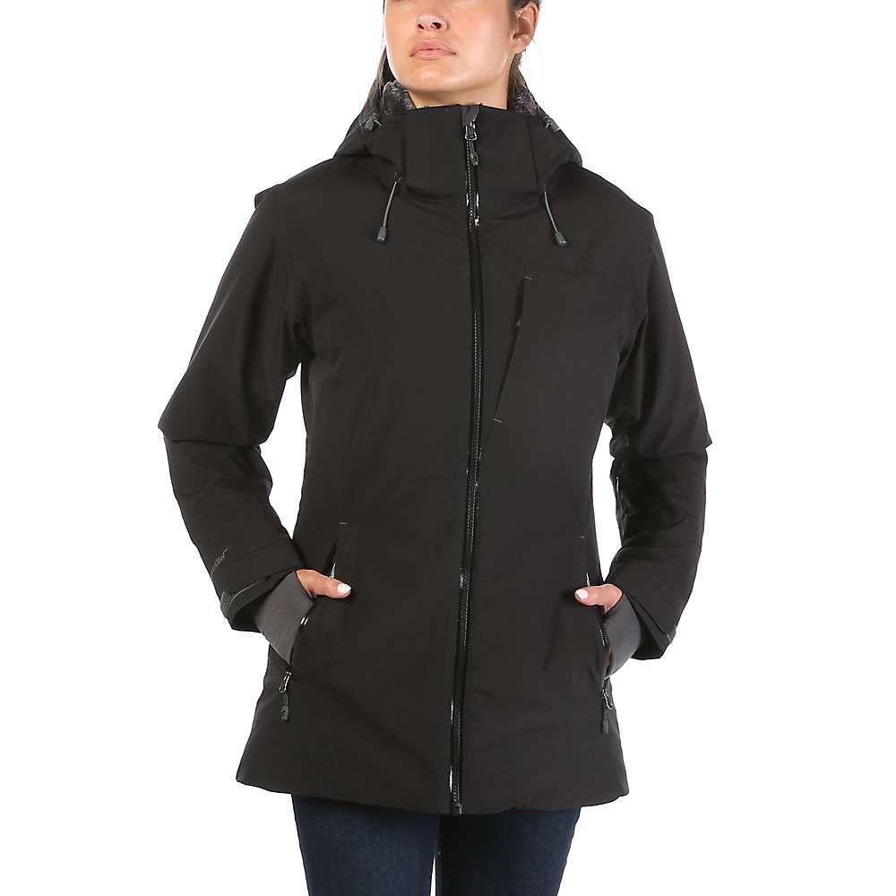 ムースジョー Moosejaw レディース レインコート アウター【mt. elliott insulated waterproof jacket】Black/Smoke