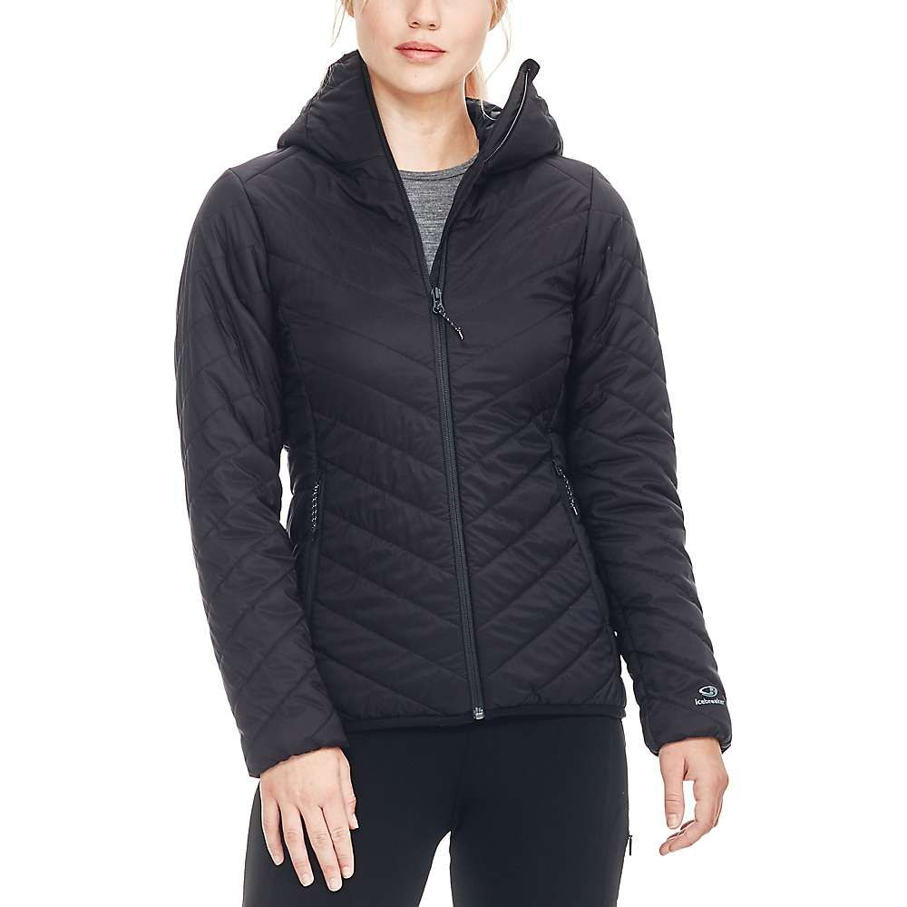 アイスブレーカー Icebreaker レディース ジャケット フード アウター【hyperia hooded jacket】Black
