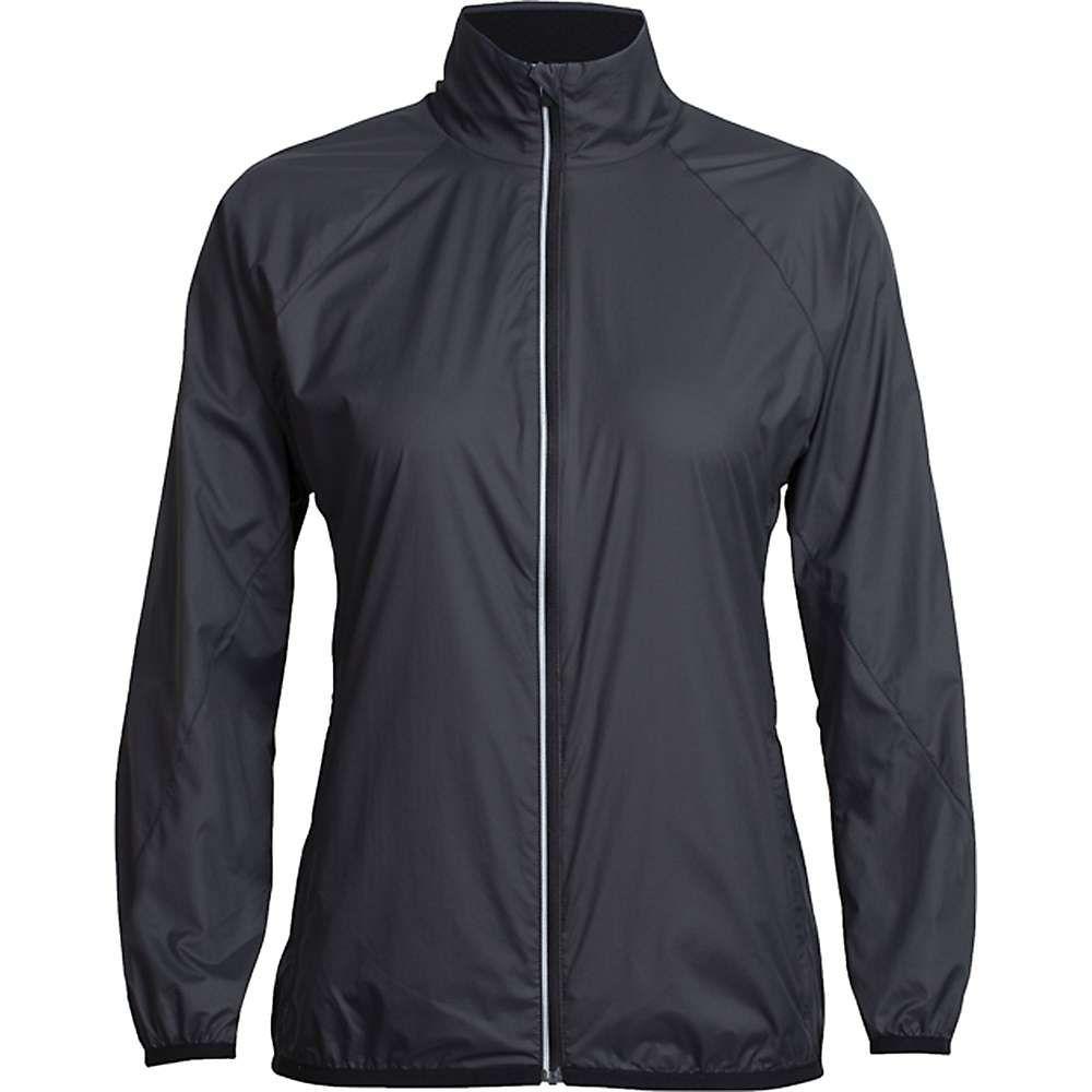 アイスブレーカー Icebreaker レディース ジャケット ウィンドブレーカー アウター【rush windbreaker jacket】Black