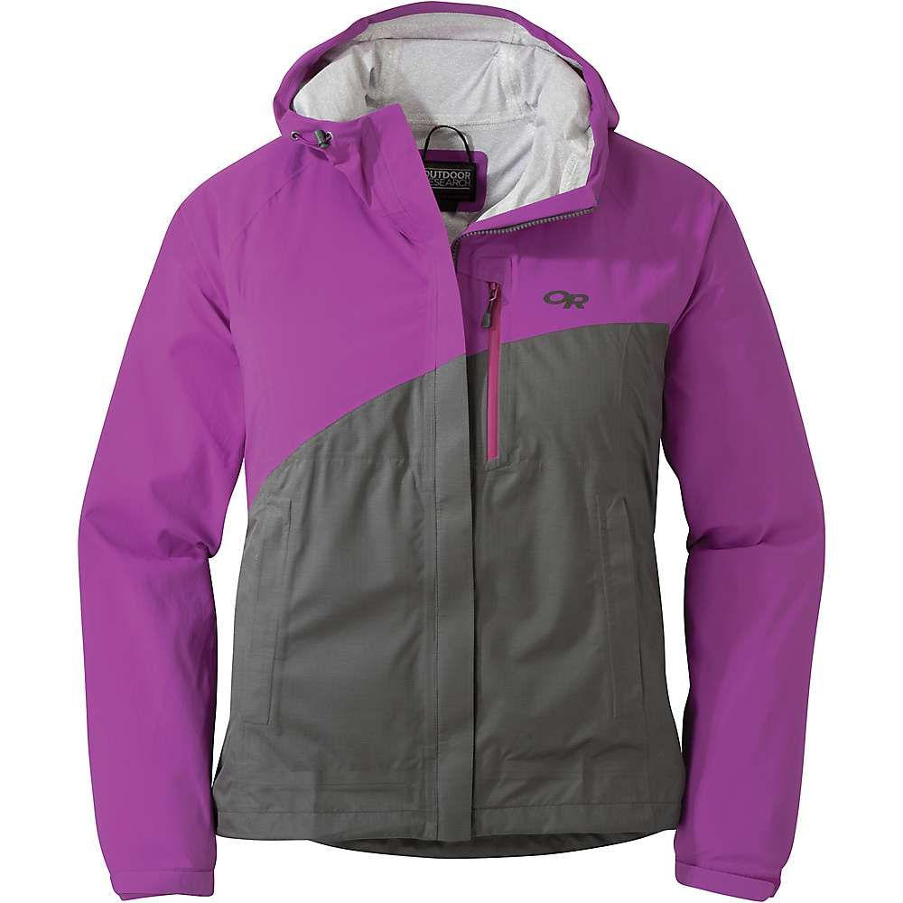 アウトドアリサーチ Outdoor Research レディース レインコート アウター【panorama point jacket】Ultraviolet/Charcoal Herringbn