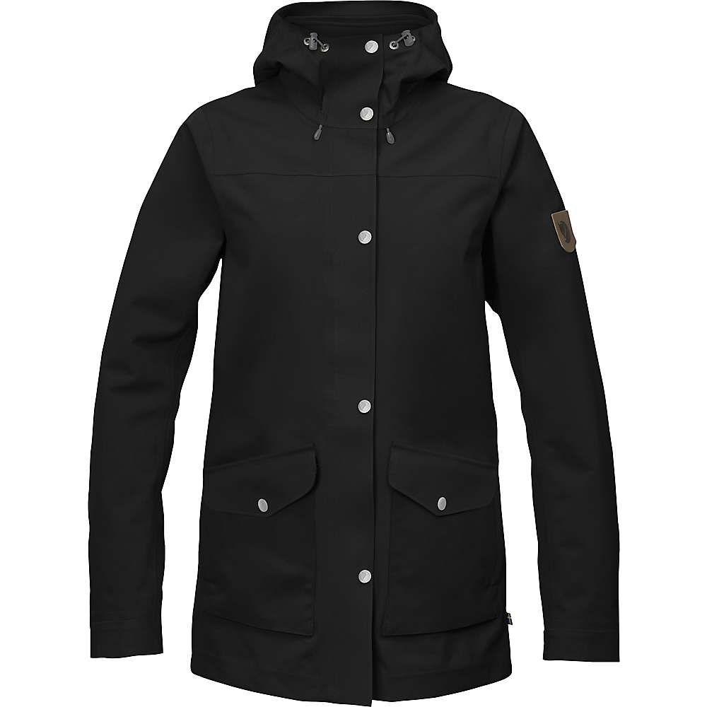 フェールラーベン Fjallraven レディース レインコート シェルジャケット アウター【greenland eco shell jacket】Black