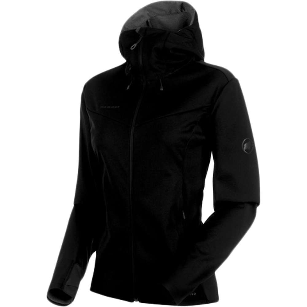 マムート Mammut レディース ジャケット フード アウター【ultimate v so hooded jacket】Black/Black