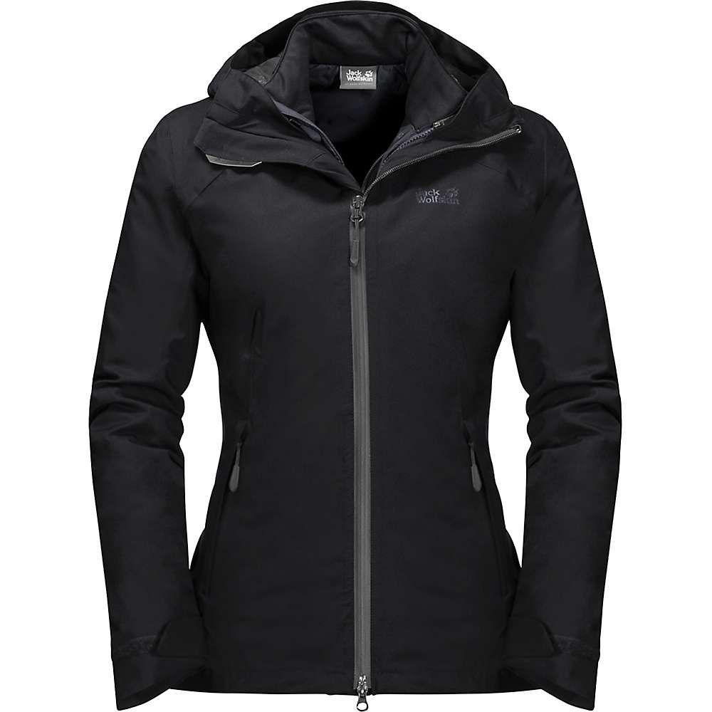 ジャックウルフスキン Jack Wolfskin レディース ジャケット アウター【aurora sky 3 in 1 jacket】Black