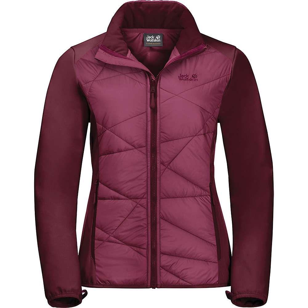ジャックウルフスキン Jack Wolfskin レディース ジャケット アウター【grassland hybrid jacket】Garnet Red