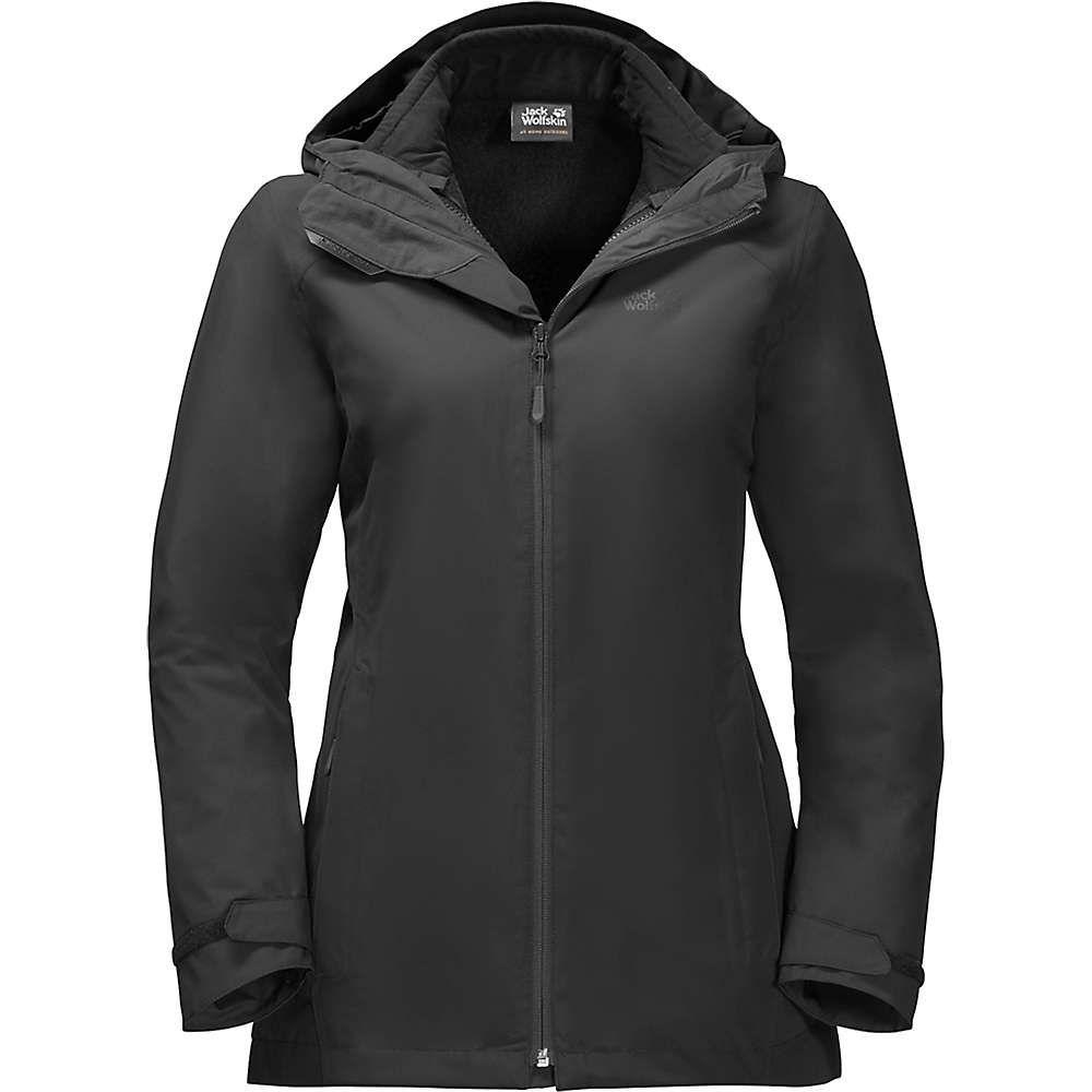 ジャックウルフスキン Jack Wolfskin レディース ジャケット アウター【norrland 3 in 1 jacket】Black