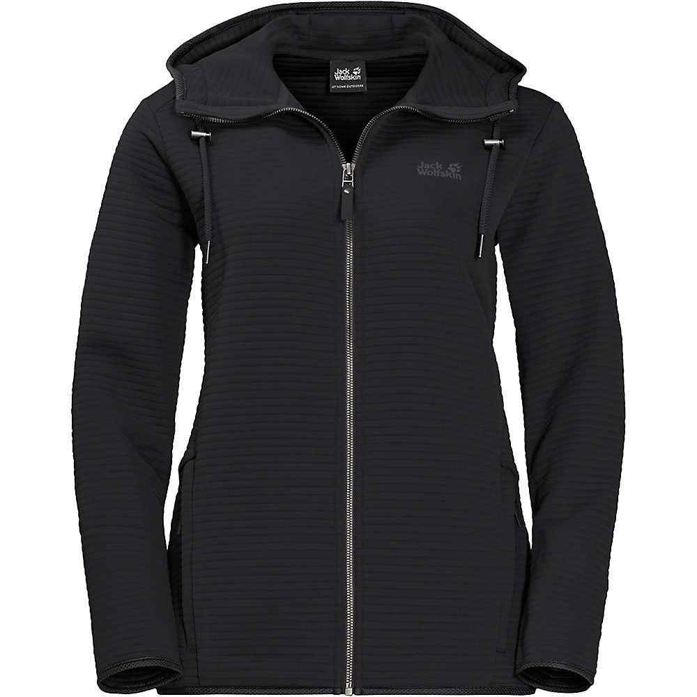 ジャックウルフスキン Jack Wolfskin レディース フリース フード トップス【modesto hooded jacket】Black
