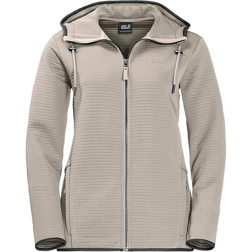 ジャックウルフスキン Jack Wolfskin レディース フリース フード トップス【modesto hooded jacket】Dusty Grey
