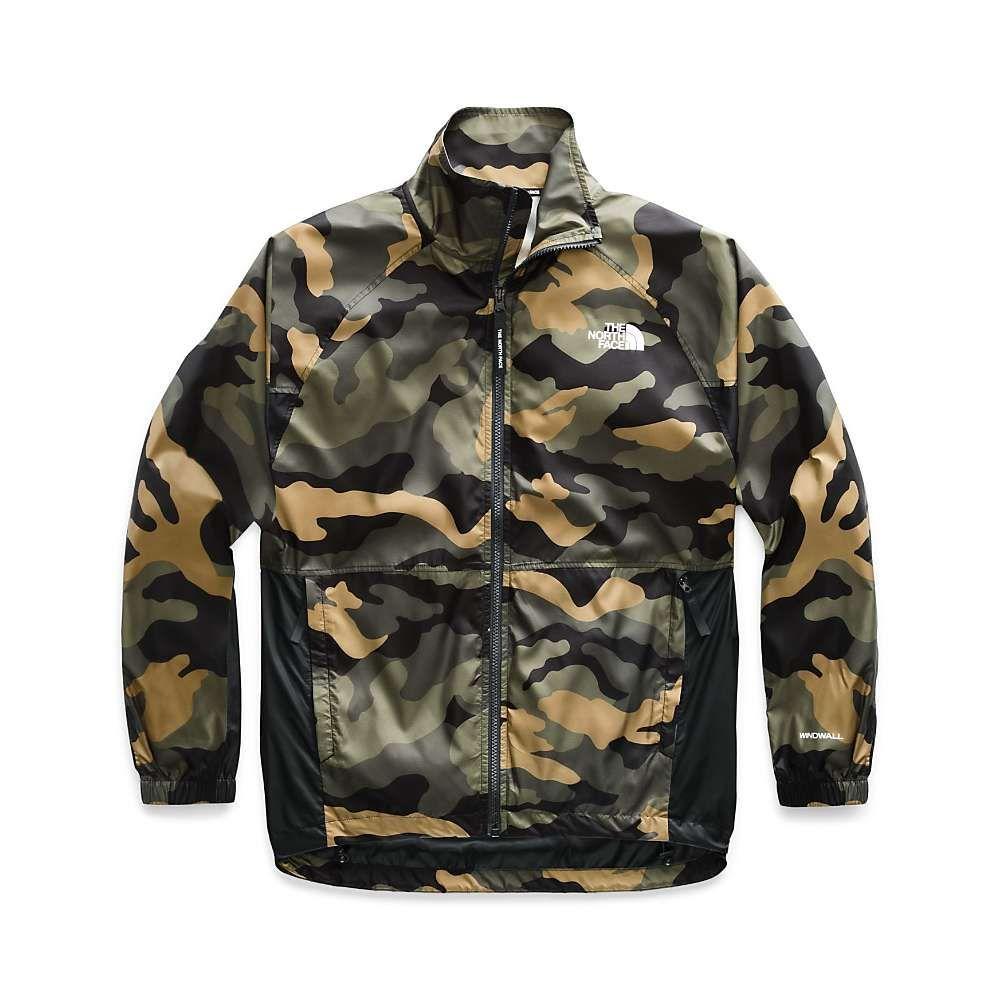 ザ ノースフェイス The North Face レディース ジャケット ウィンドブレーカー アウター【nse graphic wind jacket】Burnt Olive Green Woods Camo Print/TNF Black