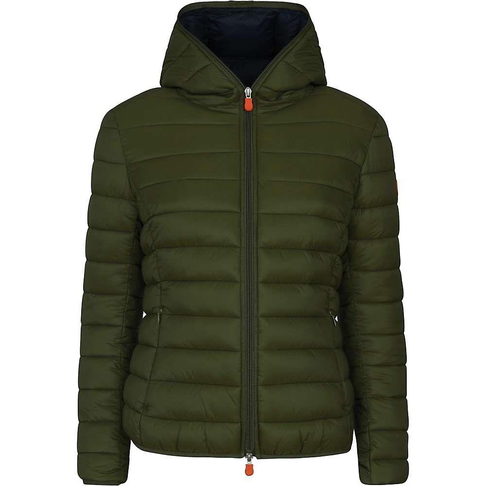 セイブ ザ ダック Save The Duck レディース ジャケット フード アウター【hooded jacket】Dusty Olive