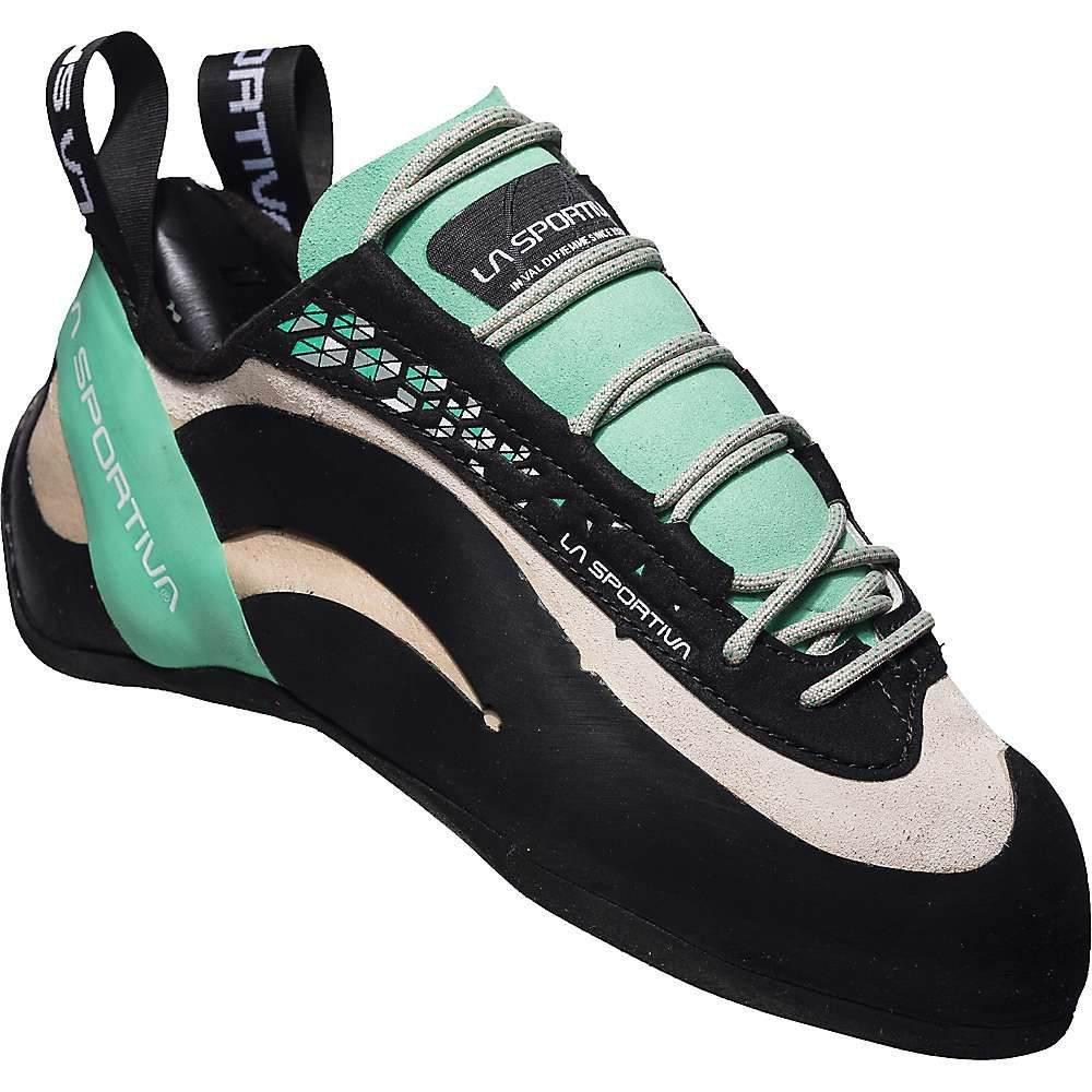 ラスポルティバ レディース クライミング シューズ・靴 White/Jade Green 【サイズ交換無料】 ラスポルティバ La Sportiva レディース クライミング シューズ・靴【miura climbing shoe】White/Jade Green