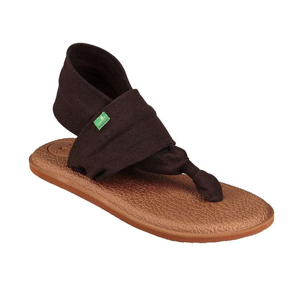 サヌーク Sanuk レディース ヨガ・ピラティス シューズ・靴【yoga sling 2 metallic lx sandal】Chocolate Brown/Metallic Bronze