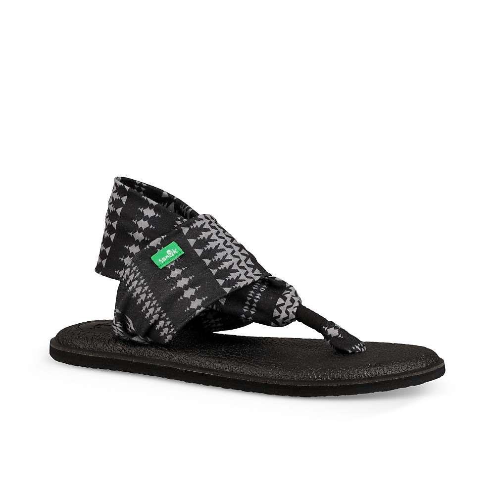 サヌーク Sanuk レディース ヨガ・ピラティス シューズ・靴【yoga sling 2 print sandal】Black/Natural Koa Tribal