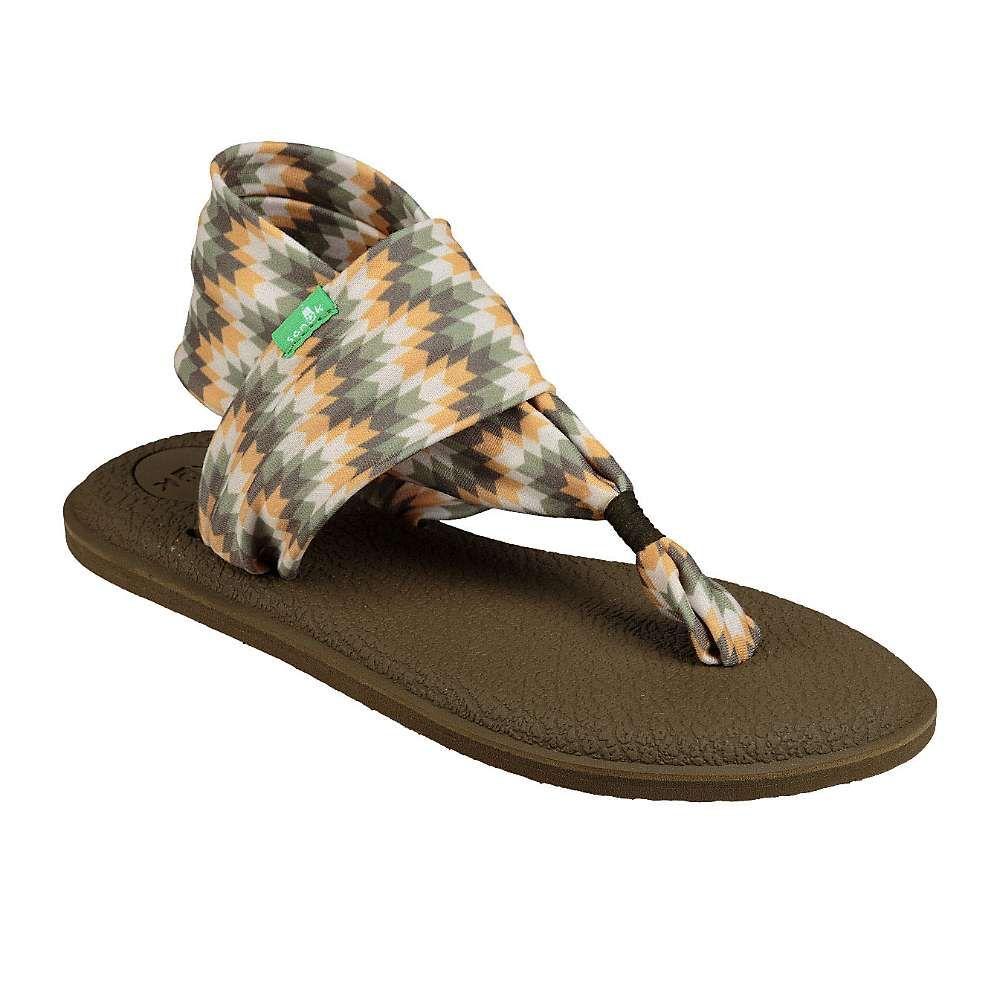 サヌーク Sanuk レディース ヨガ・ピラティス シューズ・靴【yoga sling 2 print sandal】Olive Chevron